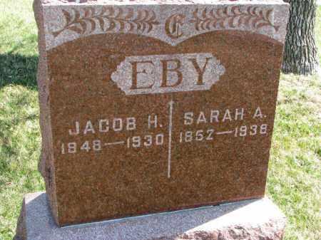 EBY, JACOB H. - Cedar County, Nebraska | JACOB H. EBY - Nebraska Gravestone Photos