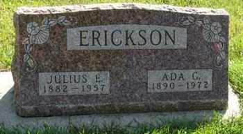 ERICKSON, JULIUS E. - Cedar County, Nebraska | JULIUS E. ERICKSON - Nebraska Gravestone Photos