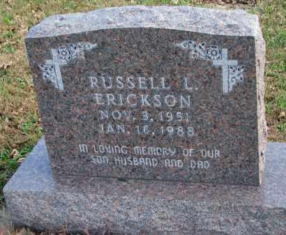 ERICKSON, RUSSELL L. - Cedar County, Nebraska   RUSSELL L. ERICKSON - Nebraska Gravestone Photos