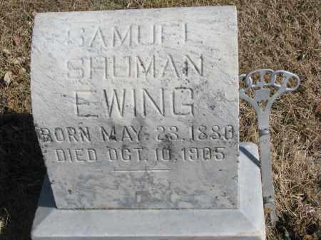 EWING, SAMUEL SHUMAN - Cedar County, Nebraska | SAMUEL SHUMAN EWING - Nebraska Gravestone Photos