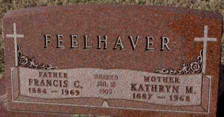 FEELHAVER, KATHRYN M. - Cedar County, Nebraska | KATHRYN M. FEELHAVER - Nebraska Gravestone Photos