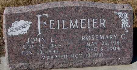 FEILMEIER, JOHN L. - Cedar County, Nebraska | JOHN L. FEILMEIER - Nebraska Gravestone Photos