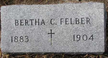 FELBER, BERTHA C. - Cedar County, Nebraska | BERTHA C. FELBER - Nebraska Gravestone Photos