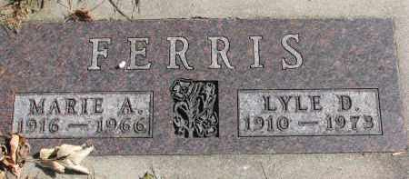 FERRIS, MARIE A. - Cedar County, Nebraska | MARIE A. FERRIS - Nebraska Gravestone Photos