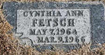 FETSCH, CYNTHIA ANN - Cedar County, Nebraska   CYNTHIA ANN FETSCH - Nebraska Gravestone Photos