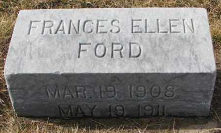 FORD, FRANCES ELLEN - Cedar County, Nebraska | FRANCES ELLEN FORD - Nebraska Gravestone Photos