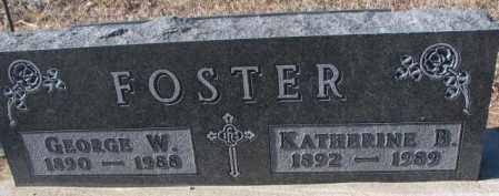 FOSTER, GEORGE W. - Cedar County, Nebraska | GEORGE W. FOSTER - Nebraska Gravestone Photos