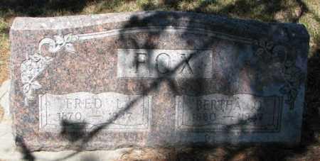FOX, FRED L. - Cedar County, Nebraska | FRED L. FOX - Nebraska Gravestone Photos