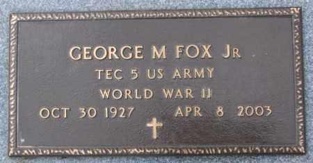 FOX, GEORGE M. JR. (WW II MARKER) - Cedar County, Nebraska | GEORGE M. JR. (WW II MARKER) FOX - Nebraska Gravestone Photos