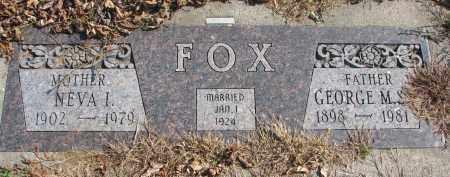 FOX, NEVA I. - Cedar County, Nebraska   NEVA I. FOX - Nebraska Gravestone Photos