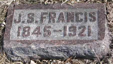 FRANCIS, J.S. - Cedar County, Nebraska   J.S. FRANCIS - Nebraska Gravestone Photos