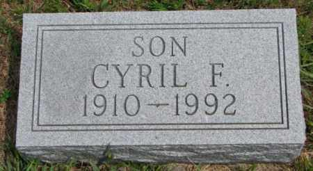 GERBER, CYRIL F. - Cedar County, Nebraska   CYRIL F. GERBER - Nebraska Gravestone Photos