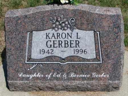 GERBER, KARON L. - Cedar County, Nebraska   KARON L. GERBER - Nebraska Gravestone Photos