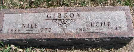 GIBSON, LUCILE - Cedar County, Nebraska | LUCILE GIBSON - Nebraska Gravestone Photos