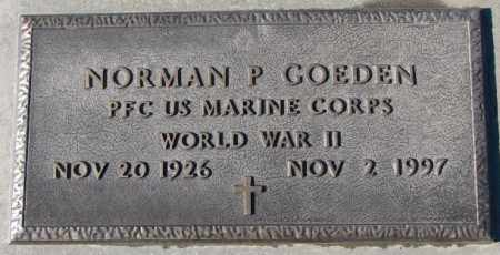 GOEDEN, NORMAN P. (WW II) - Cedar County, Nebraska | NORMAN P. (WW II) GOEDEN - Nebraska Gravestone Photos