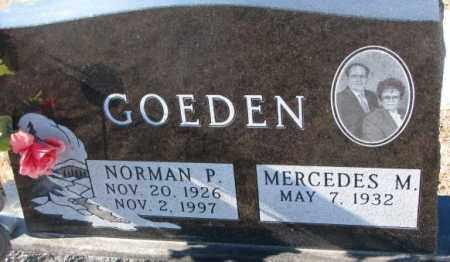 GOEDEN, NORMAN P. - Cedar County, Nebraska | NORMAN P. GOEDEN - Nebraska Gravestone Photos