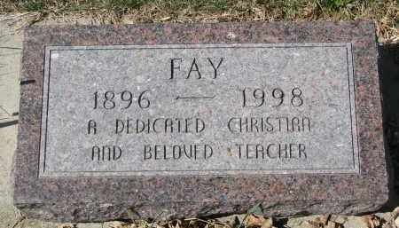 GORDON, FAY - Cedar County, Nebraska   FAY GORDON - Nebraska Gravestone Photos