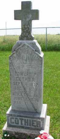 GOTHIER, EDWARD P. - Cedar County, Nebraska   EDWARD P. GOTHIER - Nebraska Gravestone Photos