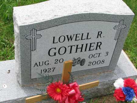GOTHIER, LOWELL R. - Cedar County, Nebraska   LOWELL R. GOTHIER - Nebraska Gravestone Photos