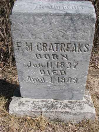 GRATREAKS, F.M. - Cedar County, Nebraska | F.M. GRATREAKS - Nebraska Gravestone Photos