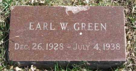 GREEN, EARL W. - Cedar County, Nebraska   EARL W. GREEN - Nebraska Gravestone Photos