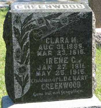 GREENWOOD, CLARA M. - Cedar County, Nebraska | CLARA M. GREENWOOD - Nebraska Gravestone Photos