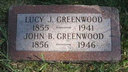 GREENWOOD, LUCY J. - Cedar County, Nebraska | LUCY J. GREENWOOD - Nebraska Gravestone Photos