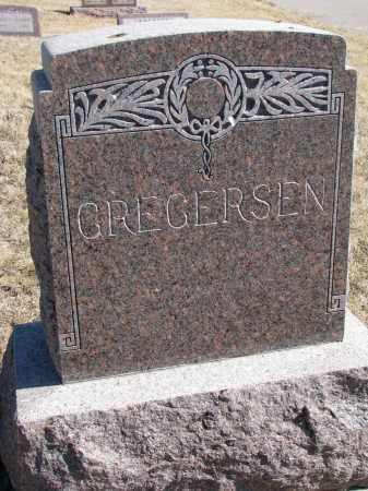 GREGERSEN, FAMILY STONE - Cedar County, Nebraska | FAMILY STONE GREGERSEN - Nebraska Gravestone Photos