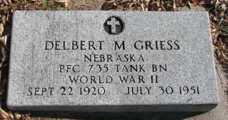 GRIESS, DELBERT M. - Cedar County, Nebraska | DELBERT M. GRIESS - Nebraska Gravestone Photos