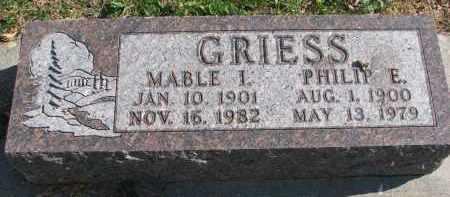 WEST GRIESS, MABLE I. - Cedar County, Nebraska | MABLE I. WEST GRIESS - Nebraska Gravestone Photos