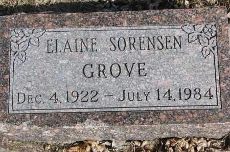 GROVE, ELAINE - Cedar County, Nebraska | ELAINE GROVE - Nebraska Gravestone Photos