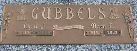 GUBBELS, CYRIL J. - Cedar County, Nebraska | CYRIL J. GUBBELS - Nebraska Gravestone Photos