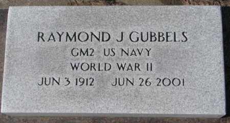 GUBBELS, RAYMOND J. (WW II) - Cedar County, Nebraska   RAYMOND J. (WW II) GUBBELS - Nebraska Gravestone Photos