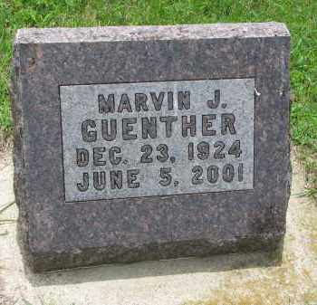 GUENTHER, MARVIN J. - Cedar County, Nebraska | MARVIN J. GUENTHER - Nebraska Gravestone Photos