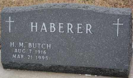 "HABERER, H.M. ""BUTCH"" - Cedar County, Nebraska | H.M. ""BUTCH"" HABERER - Nebraska Gravestone Photos"
