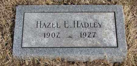 HADLEY, HAZEL E. - Cedar County, Nebraska | HAZEL E. HADLEY - Nebraska Gravestone Photos