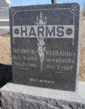 HARMS, DIEDRICH - Cedar County, Nebraska   DIEDRICH HARMS - Nebraska Gravestone Photos