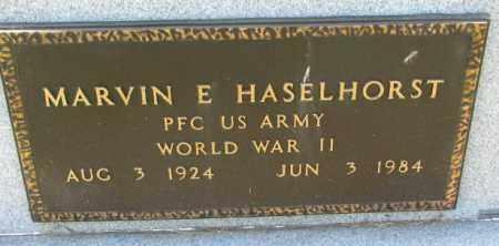 HASELHORST, MARVIN E. (WW II) - Cedar County, Nebraska   MARVIN E. (WW II) HASELHORST - Nebraska Gravestone Photos