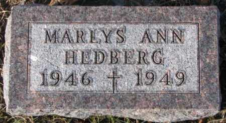 HEDBERG, MARLYS ANN - Cedar County, Nebraska   MARLYS ANN HEDBERG - Nebraska Gravestone Photos