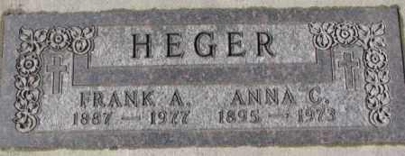 HEGER, ANNA C. - Cedar County, Nebraska   ANNA C. HEGER - Nebraska Gravestone Photos