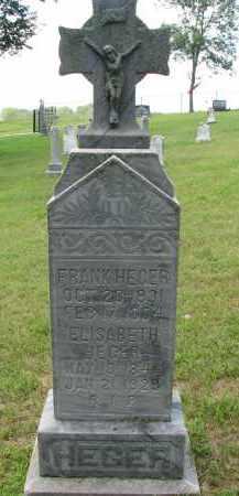 HEGER, FRANK - Cedar County, Nebraska | FRANK HEGER - Nebraska Gravestone Photos