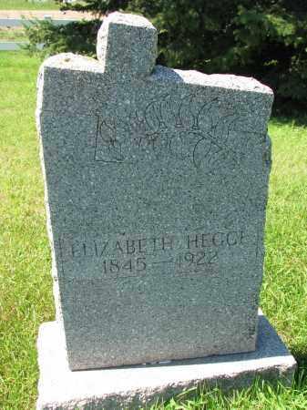 HEGGE, ELIZABETH - Cedar County, Nebraska | ELIZABETH HEGGE - Nebraska Gravestone Photos
