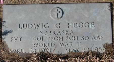 HEGGE, LUDWIG C. (WW II) - Cedar County, Nebraska   LUDWIG C. (WW II) HEGGE - Nebraska Gravestone Photos