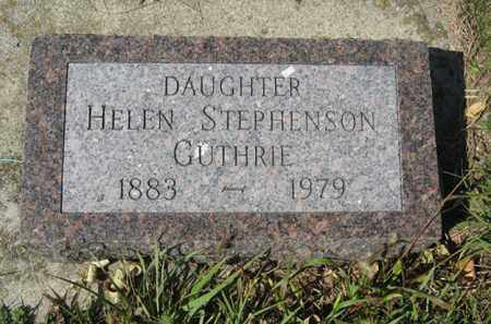 STEPHENSON HELEN, GUTHRIE - Cedar County, Nebraska | GUTHRIE STEPHENSON HELEN - Nebraska Gravestone Photos