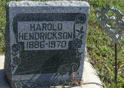 HENDRICKSON, HAROLD - Cedar County, Nebraska | HAROLD HENDRICKSON - Nebraska Gravestone Photos