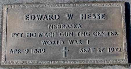 HESSE, EDWARD W. (WW I) - Cedar County, Nebraska | EDWARD W. (WW I) HESSE - Nebraska Gravestone Photos