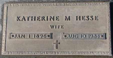 HESSE, KATHERINE M. - Cedar County, Nebraska | KATHERINE M. HESSE - Nebraska Gravestone Photos