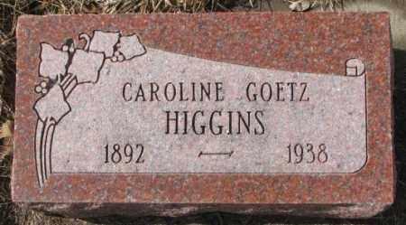 HIGGINS, CAROLINE - Cedar County, Nebraska | CAROLINE HIGGINS - Nebraska Gravestone Photos