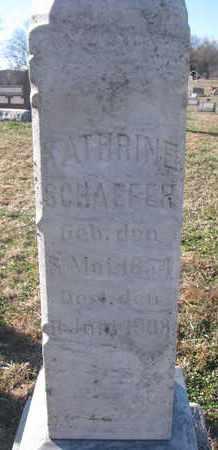 SCHAEFER, KATHRINE (CLOSEUP) - Cedar County, Nebraska | KATHRINE (CLOSEUP) SCHAEFER - Nebraska Gravestone Photos