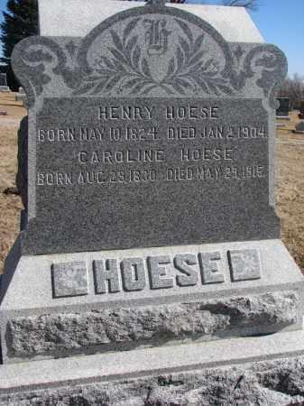 HOESE, HENRY - Cedar County, Nebraska   HENRY HOESE - Nebraska Gravestone Photos
